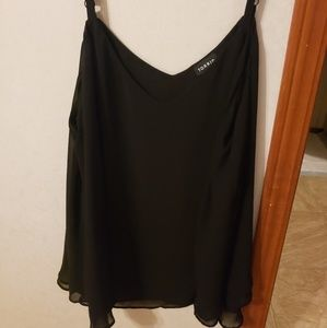 Torrid black double layer tank top size 1